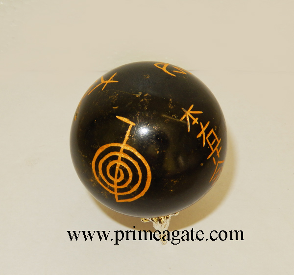 black-tourmaline-engraved-usai-reiki-sphere