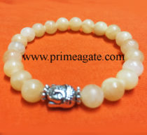 calcite-stretchable-buddha-bracelet
