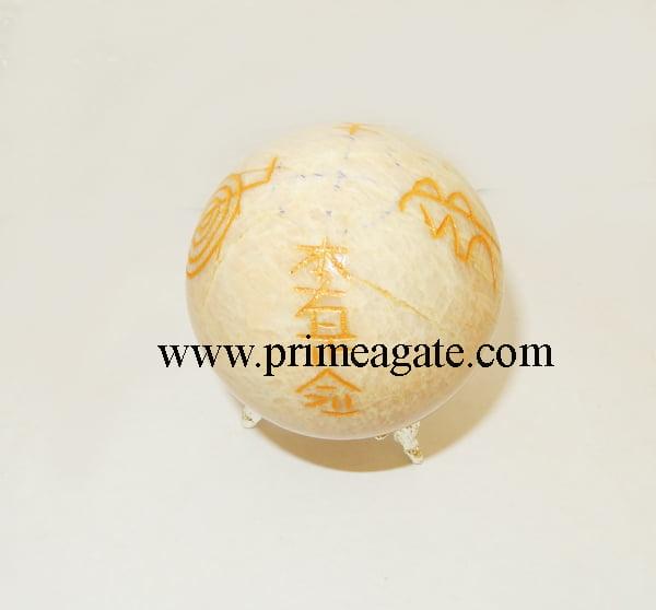 cream-moonstone-engrave-usai-reiki-sphere