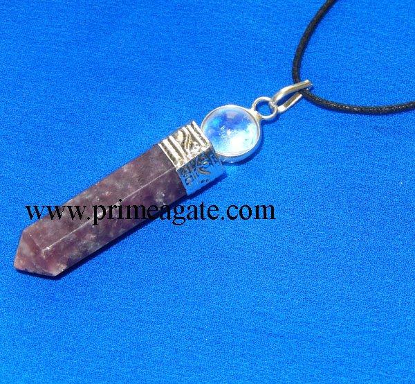 lepidolite-2pc-cap-pencil-pendant-with-black-cord