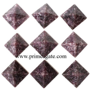 Lepidolite-Pyramids
