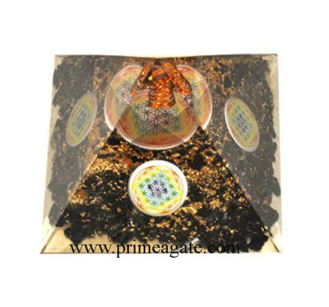 Orgone-Black-Tourmaline-Pyramid-With-4Sided-Chakra-Flower-Of-Life