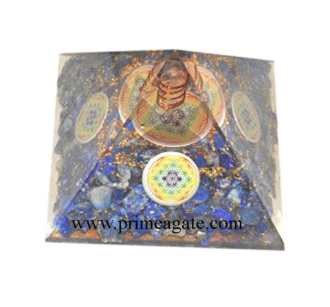 Orgone-Lapis-Lazuli-Pyramid-With-4Sided-Chakra-Flower-Of-Life