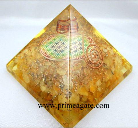 Orgone-YellowJasper-Pyramid-With-Chakra-Flower-Of-Life