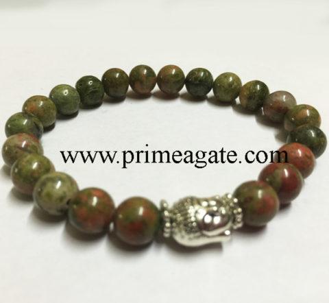 unakite-stretchable-buddha-bracelet
