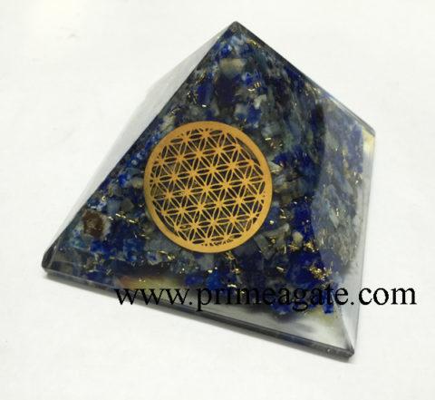 lapis-lazuli-orgonite-pyramid-with-metal-flower-of-life