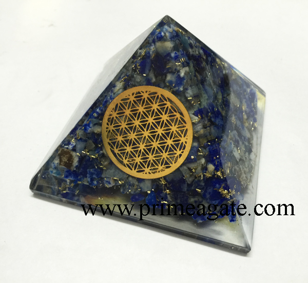 lapis-lazuli-orgonite-pyramid-with-metal-flower-of-life