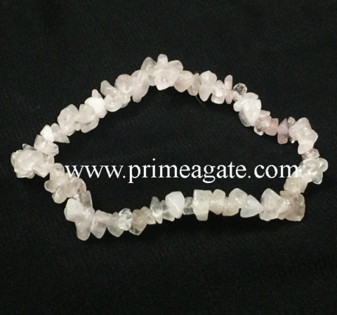 rose-quartz-chips-stretchable-bracelet