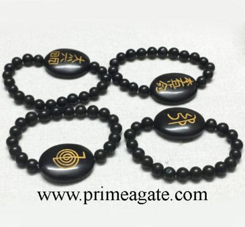 black-agate-choko-reiki-bracelet-set