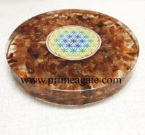 Orgone-Red-Carnelian-Chakra-Flower-Of-Life-Coaster