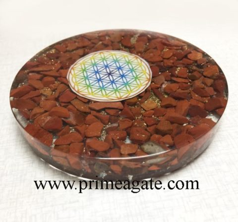 Orgone-Red-Jasper-Chakra-Flower-Of-Life-Coaster
