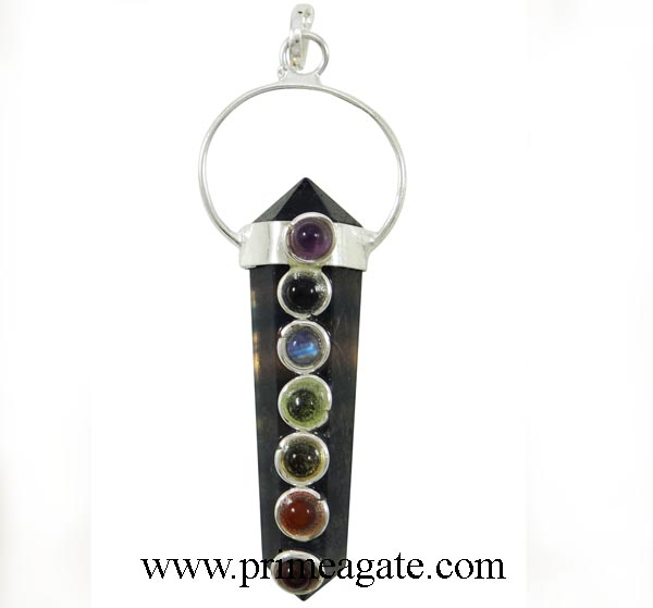 Smoky-Quartz-Double-Point-Chakra-Pendants