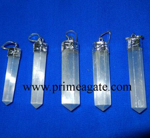 Selenite-Cap-Pencil-Pendants