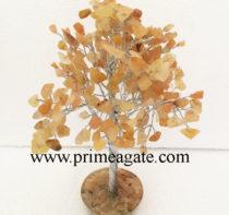 Yellow-Aventurine-300Bds-Gemstone-SilverWire-Tree-With-Orgone-Base