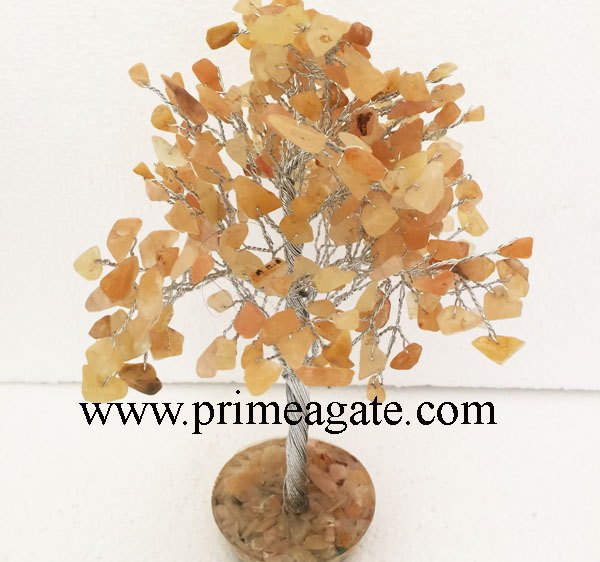 Yellow-Aventurine-300Bds-Gemstone-SilverWire-Tree-With-Orgone-Base