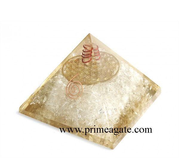 Crystal-Quartz-Metal-Flower-Of-Life-Orgone-Pyramid