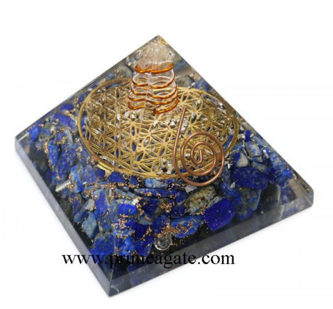 Lapis-Lazuli-Metal-Flower-Of-Life-Pyramid-With-Charge-Crystal-Point