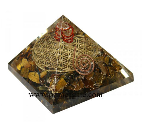 Tiger-Eye-Orgone-Pyramid-With-Inside-Flower-Of-Life-And-Charge-Crystal-Point