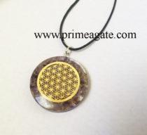 Amethyst-Orgone-Metal-Flower-Of-Life-Pendant