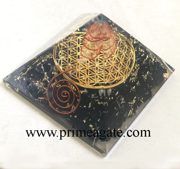 Black-Tourmaline-Orgone-Metal-Flower-Of-Life-Pyramid-&-Charge-Crystal-Point
