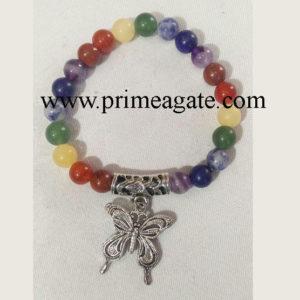 Chakra-Stones-Bracelet-With-Butterfly-Charm