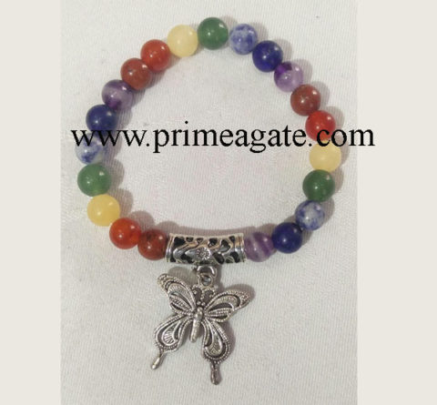 Chakra-Stones-Bracelet-With-Butterfly-Charm