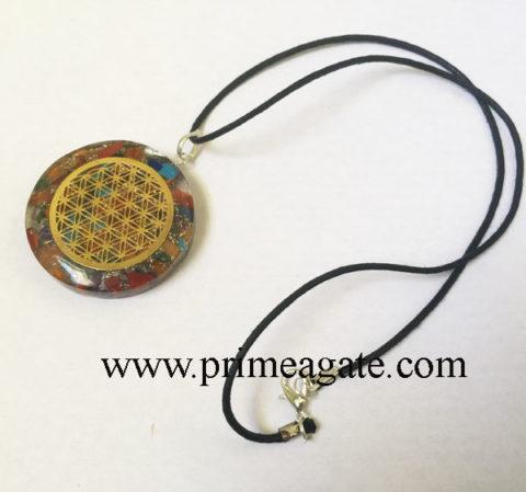 Mic-Chakra-Stones-Metal-Flower-Of-Life-Orgone-Pendant