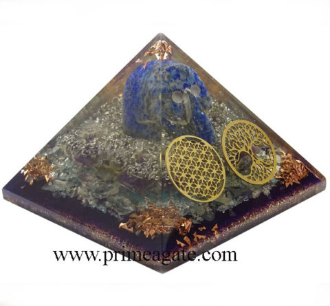Multistone-Orgone-Pyramid-With-lapis-Lazuli-Skull-Flower-Of-Life-tree-Of-Life