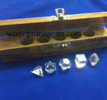 Crystal-Quartz-5pc-Geometry-Set-With-wooden-box