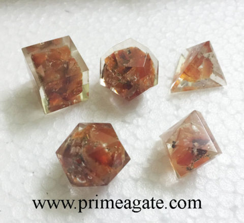 Red-Aventurine-5Pc-Orgone-Geometry-Set