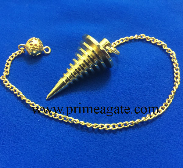 Golden-Hard-Coil-Metal-Pendulum