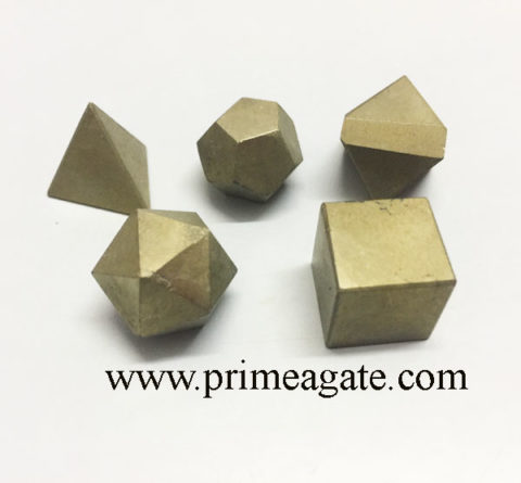 Golden-Pyrite-5Pc-Geometry-Set