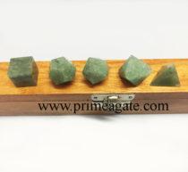 Green-Aventurine-5Pc-Geometry-Set