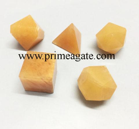 Yellow-Aventurine-5pc-Geometry-Set