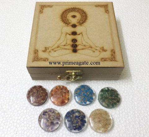 Buddha-Etched-Chakra-Box-With-Orgone-Chakra-Disc-Sets