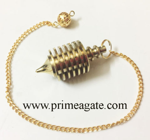 Golden-Vertical-Metal-Pendulum