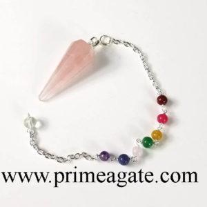 Rose Quartz Chakra Pendulum