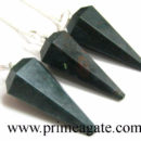 Blood Stone Faceted Pendulums