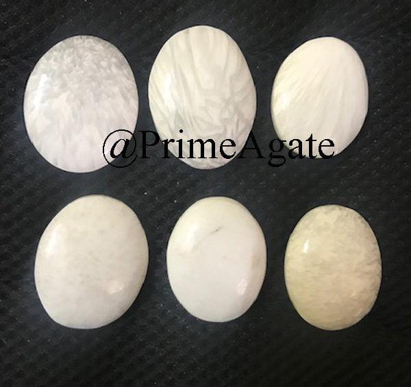 Scolecite Worry Stones